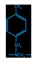 Химическая формула Тосиламидформальдегидной смолы/Толуол-сульфонамид-формальдегидной смолы (ТСФ)